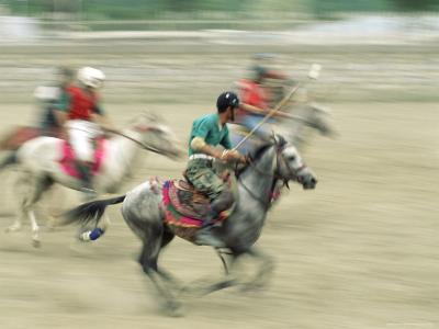 Polo Players in the Birthplace of Polo, Chitral, Pakistan, Asia