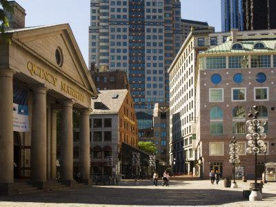 Quincy Market by Faneuil Hall, Boston, Massachusetts, USA