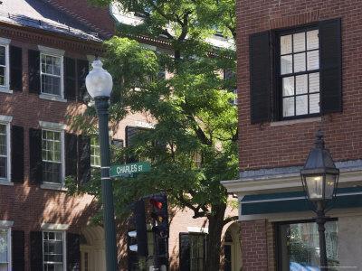 Charles Street, Beacon Hill, Boston, Massachusetts, USA