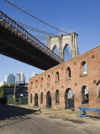 Derelict Warehouses Under Brooklyn Bridge, Brooklyn, New York City, New York, USA