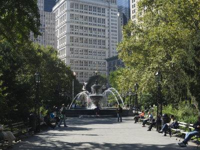 City Hall Park, Manhattan, New York City, New York, United States of America, North America