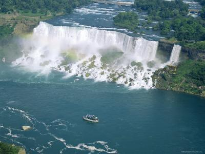 Aerial View of the American Falls, Niagara Falls, New York State, USA