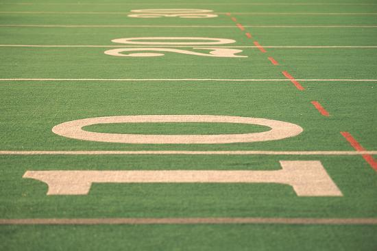 The Ten Yard Line On A Football Field Wall Mural By Kindra