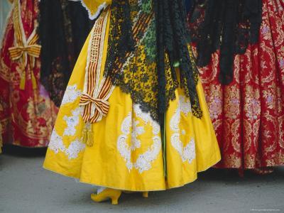 Traditional Dresses, Las Fallas Fiesta, Valencia, Spain, Europe