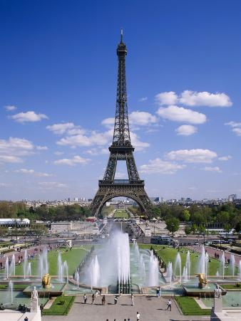 The Eiffel Tower with Water Fountains, Paris, France