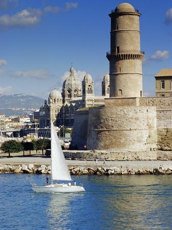 Vieux Port, Fort St. Jean, Marseille, Provence, France, Europe