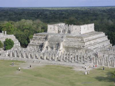 Temple of the Warriors, Chichen Itza, Mexico, Central America