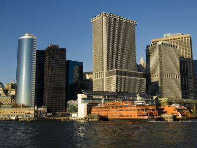 Staten Island Ferry, Business District, Lower Manhattan, New York City, New York, USA