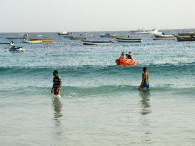 Beach at Santa Maria, Sal (Salt), Cape Verde Islands, Atlantic Ocean, Africa