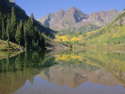 Maroon Bells, Aspen, Colorado, Rocky Mountains, USA