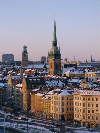City Skyline, Stockholm, Sweden, Scandinavia, Europe