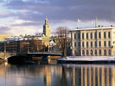 City in Winter, Stockholm, Sweden, Scandinavia, Europe