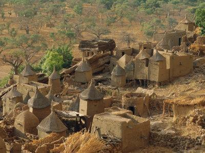 Mud Village, Sanga Region, Dogon, Mali, Africa