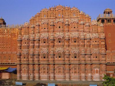 The Palace of the Winds, Hawa Mahal, Jaipur, Rajasthan, India, Asia