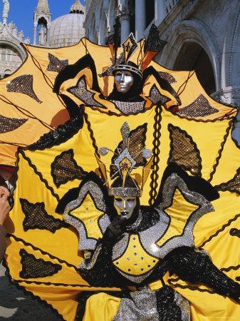 Person Wearing Masked Carnival Costume, Venice Carnival, Venice, Veneto, Italy