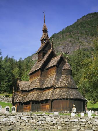 Borgund Stave Church, Western Fjords, Norway