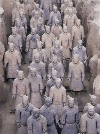 Some of the Six Thousand Statues in the Army of Terracotta Warriors, Shaanxi Province, China