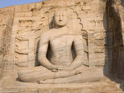 Rock Carved Granite Image of the Seated Buddha, Unesco World Heritage Site, Sri Lanka