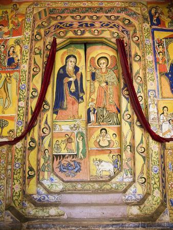 Murals in the Inner Sanctuary of the Christian Church of Ura Kedane Meheriet, Ethiopia