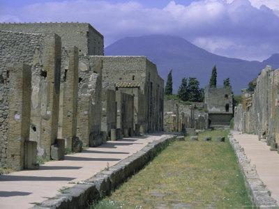 Restored Buildings in Roman Town Buried in Ad 79 by Ash Flows from Mount Vesuvius, Campania, Italy