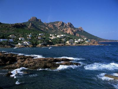 Across Bay to the Village and Pic Du Cap Roux, Antheor, Corniche De L'Esterel, Provence, France