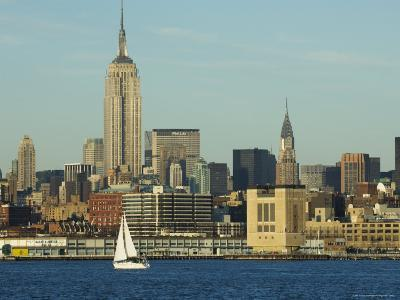 The Empire State Building and Midtown Manhattan Skyline Across the Hudson River, New York City