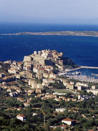 Citadel and Calvi, Corsica, France, Mediterranean, Europe