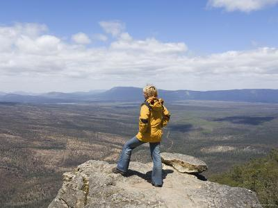 Female Hiker at the Balconies, the Grampians National Park, Victoria, Australia, Pacific
