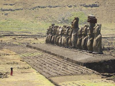 Ahu Tongariki, Easter Island (Rapa Nui), Unesco World Heritage Site, Chile, South America