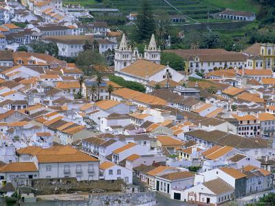 View Over Angra Do Heroismo, Island of Terceira, Azores, Portugal, Atlantic Ocean