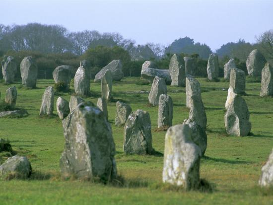 alignments of megalithic standing stones carnac morbihan brittany france europe. Black Bedroom Furniture Sets. Home Design Ideas