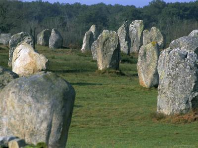 Alignments of Megalithic Standing Stones, Carnac, Morbihan, Brittany, France, Europe