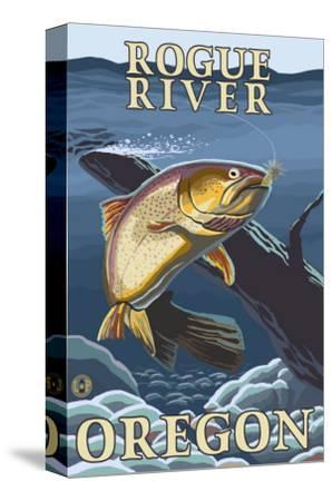 Trout Fishing Cross-Section, Rogue River, Oregon
