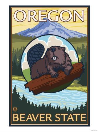 Beaver and Mount Hood Scene