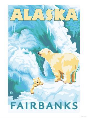 Polar Bears & Cub, Fairbanks, Alaska