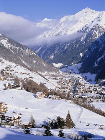 Valley Above Town of Solden in the Austrian Alps,Tirol (Tyrol), Austria, Europe