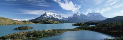 Cuernos Del Paine Rising up Above Lago Pehoe, Torres Del Paine National Park, Patagonia, Chile