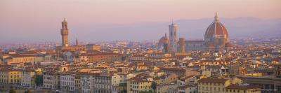 Dawn Over Florence Showing the Duomo and Uffizi, Tuscany, Italy