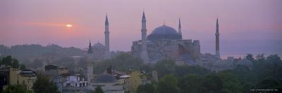 Panoramic View of Aya Sophia Mosque at Dawn, Unesco World Heritage Site, Turkey