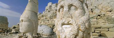 Ancient Carved Stone Heads, Nemrut Dagi (Nemrut Dag), on Summit of Mount Nemrut, Anatolia, Turkey