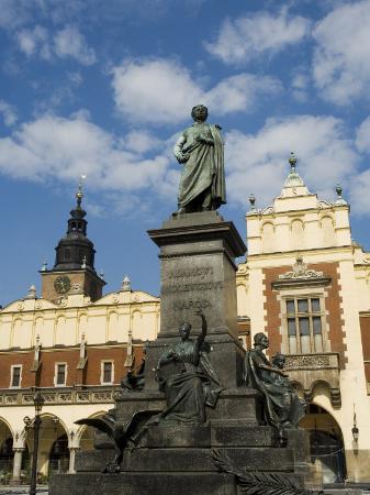 Statue of the Romantic Poet Mickiewicz, Unesco World Heritage Site, Poland