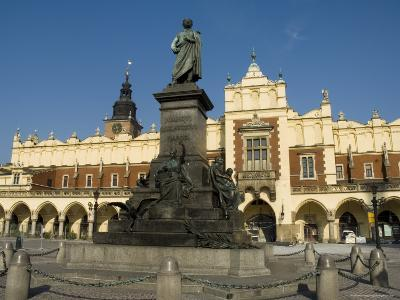 Statue of the Romantic Poet Mickiewicz, Unesco World Heritage Site, Poland