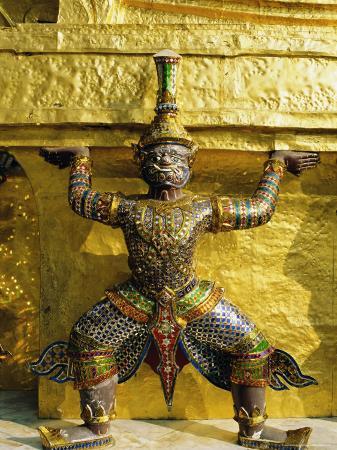 Wat Phra Kaeo, Temple of the Emerald Buddha, Grand Palace, Bangkok, Thailand