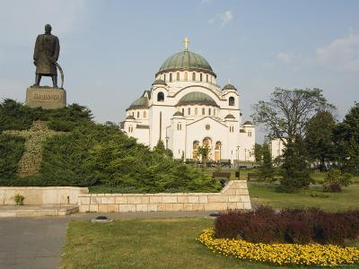 Monument in Front of St. Sava Orthodox Church Dating from 1935, Serbia, Europe