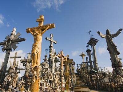 Hill of Crosses (Kryziu Kalnas), Thousands of Memorial Crosses, Lithuania, Baltic States