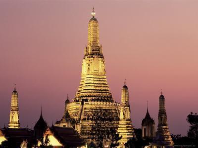 Buddhist Temple of Wat Arun at Twilight, Dating from 19th Century, Bankok Noi, Bangkok, Thailand