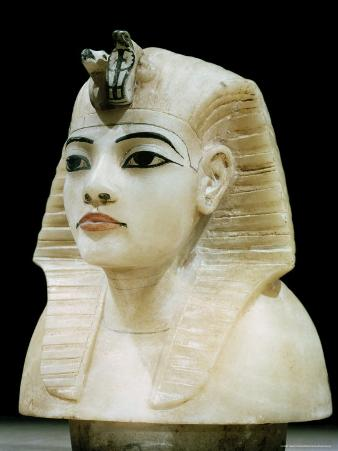 Stopper in the Form of the King's Head from One of the Four Canopic Urns, Thebes, Egypt