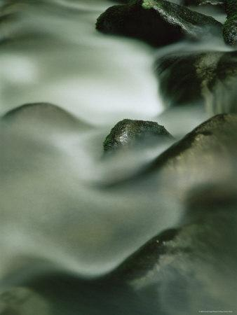 Close-Up of Water Over Rocks, Tennessee, USA