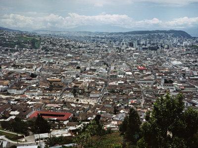 View of Quito from Hillside, Ecuador