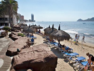 View of Playa Gaviotas at the El Cid Resort, Mazatlan, Mexico